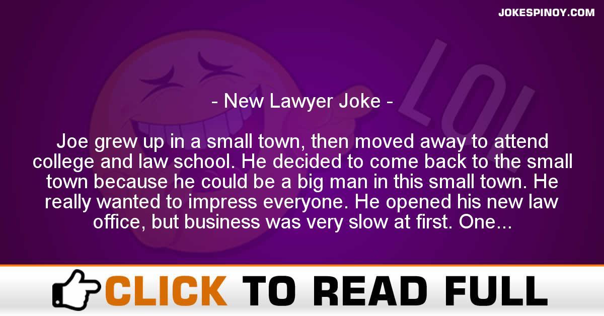 New Lawyer Joke