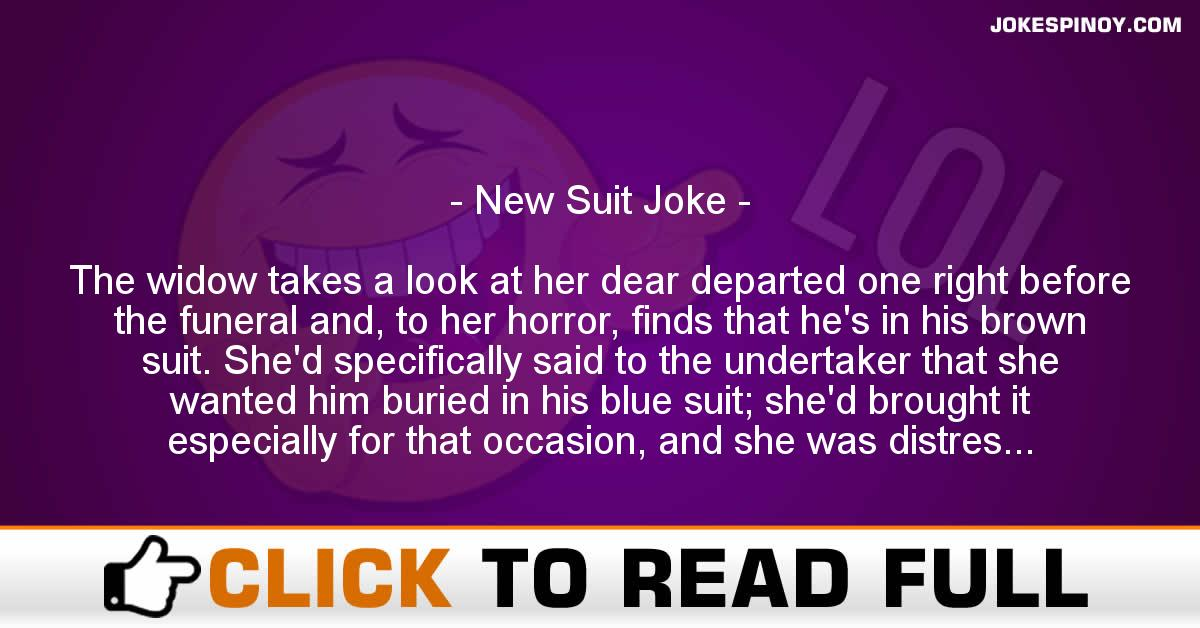 New Suit Joke
