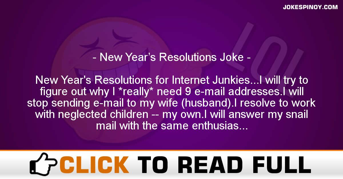 New Year's Resolutions Joke