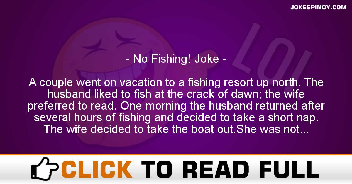 No Fishing! Joke
