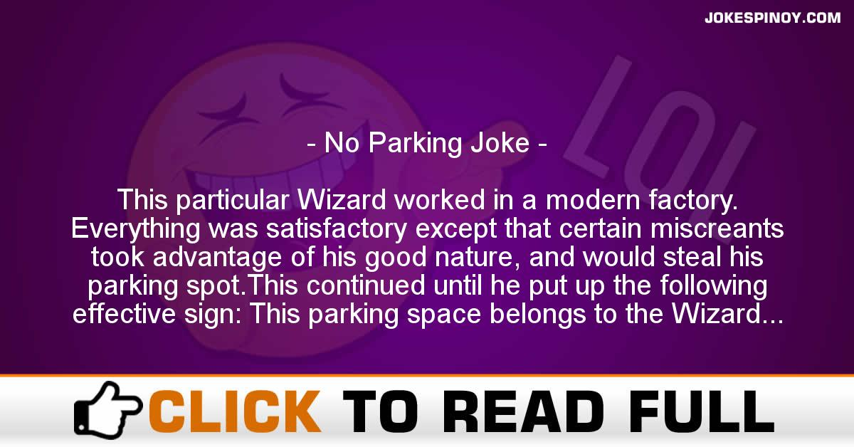 No Parking Joke