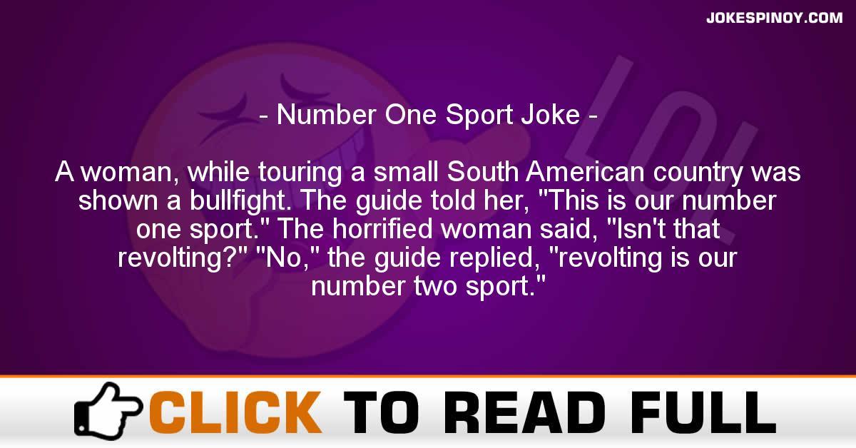 Number One Sport Joke