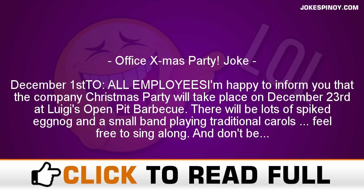 Office X-mas Party! Joke