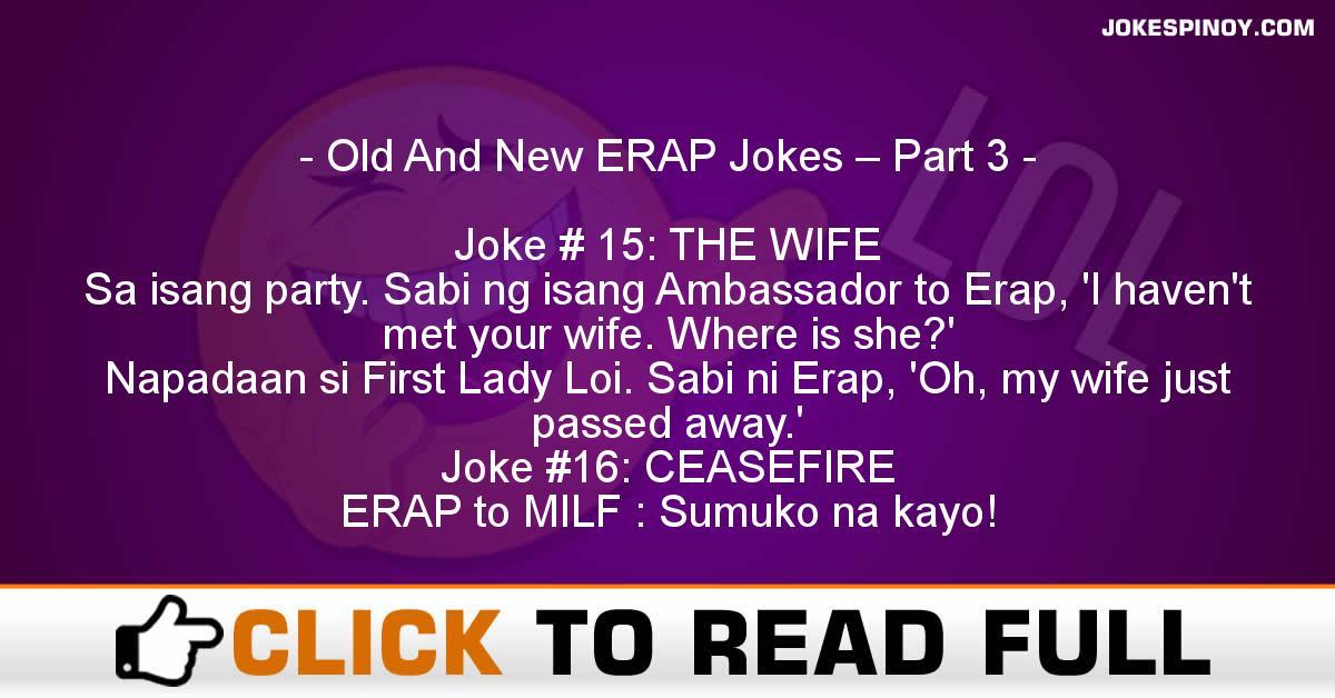 Old And New ERAP Jokes – Part 3