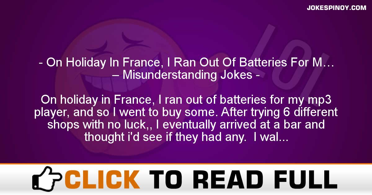 On Holiday In France, I Ran Out Of Batteries For M… – Misunderstanding Jokes