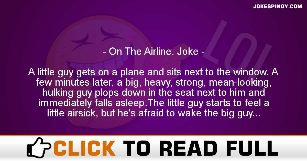 On The Airline. Joke