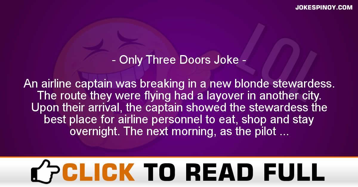 Only Three Doors Joke