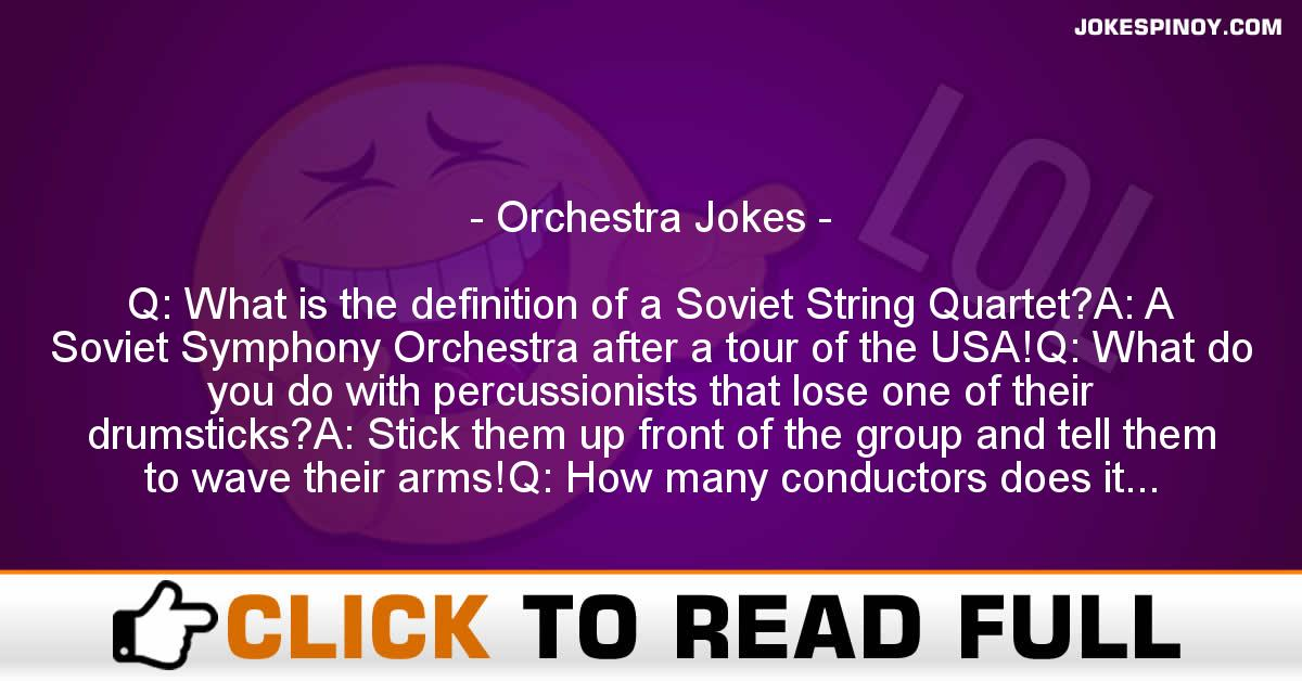 Orchestra Jokes