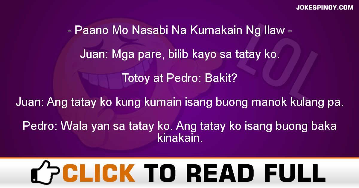 Paano Mo Nasabi Na Kumakain Ng Ilaw