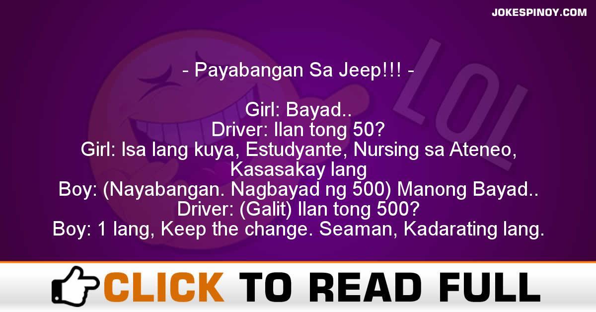 Payabangan Sa Jeep!!!