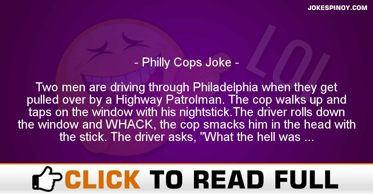 Philly Cops Joke