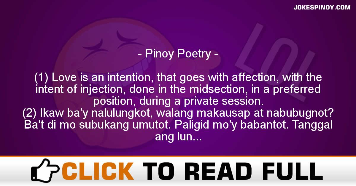 Pinoy Poetry