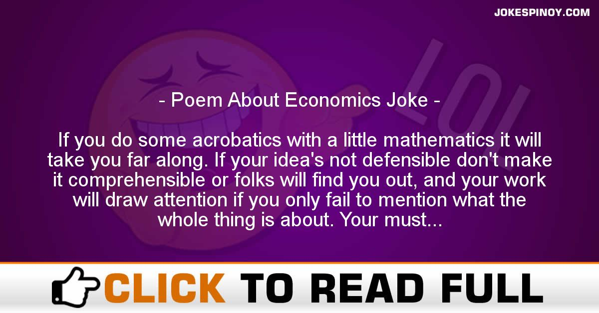 Poem About Economics Joke
