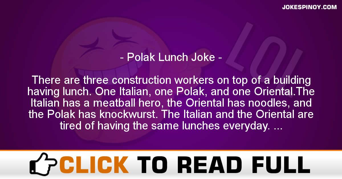 Polak Lunch Joke