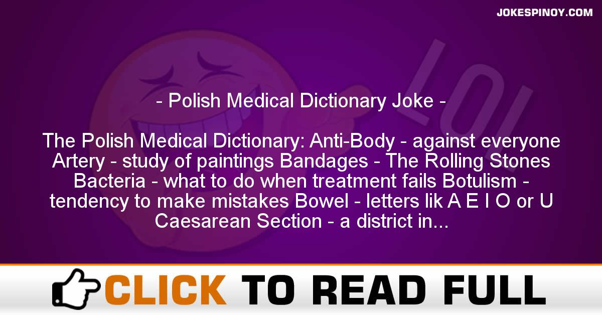 Polish Medical Dictionary Joke