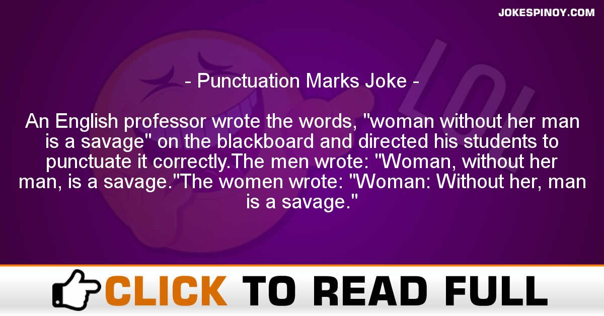 Punctuation Marks Joke