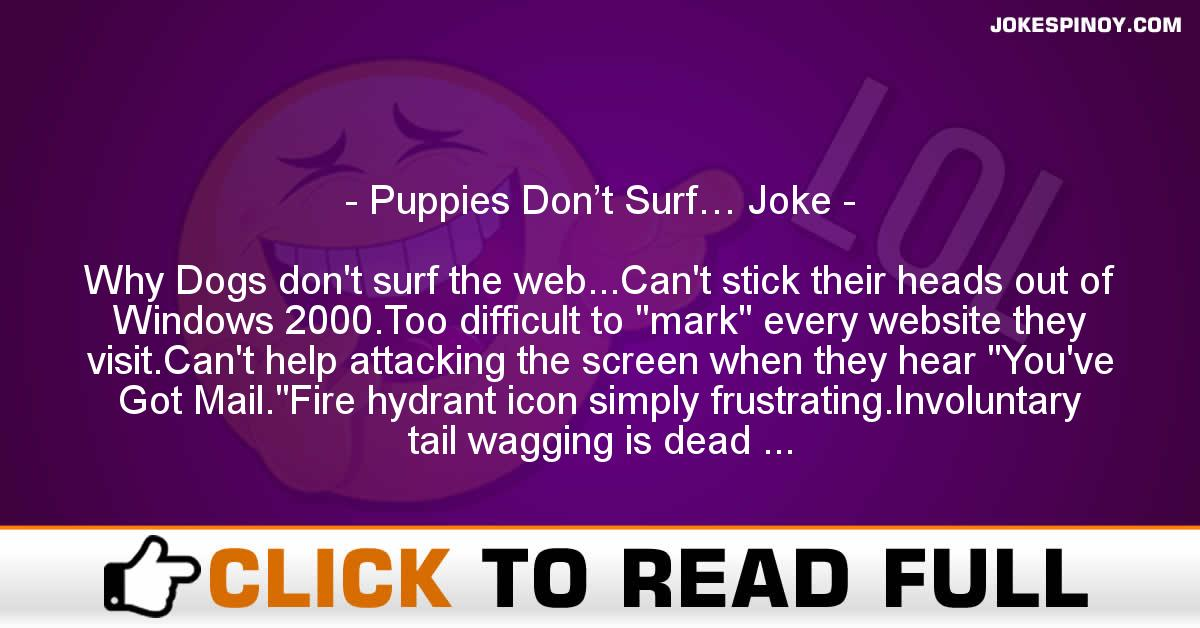 Puppies Don't Surf… Joke