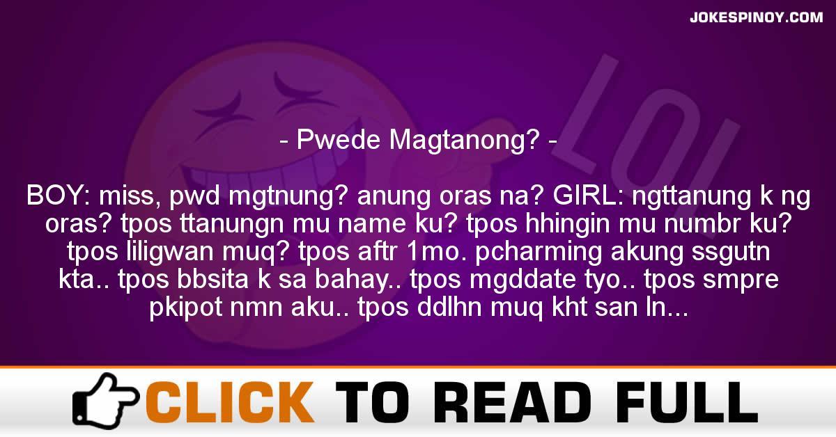 Pwede Magtanong?