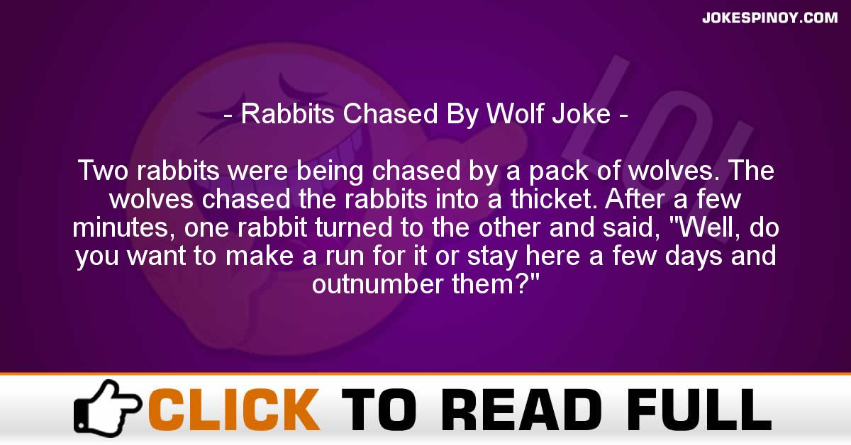 Rabbits Chased By Wolf Joke