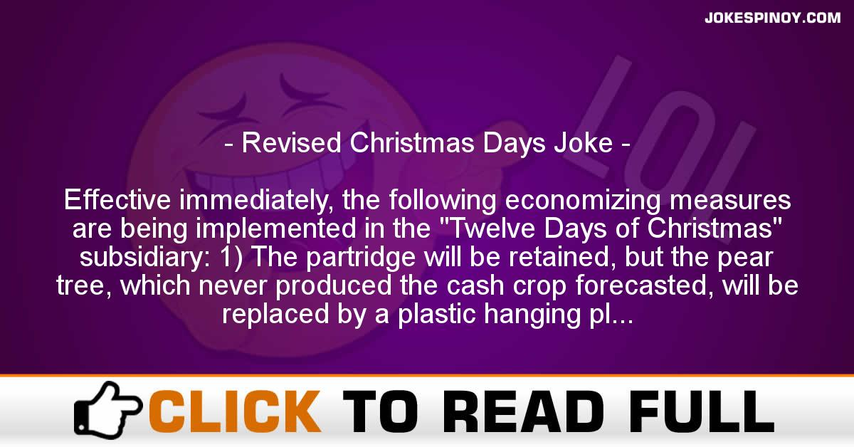 Revised Christmas Days Joke