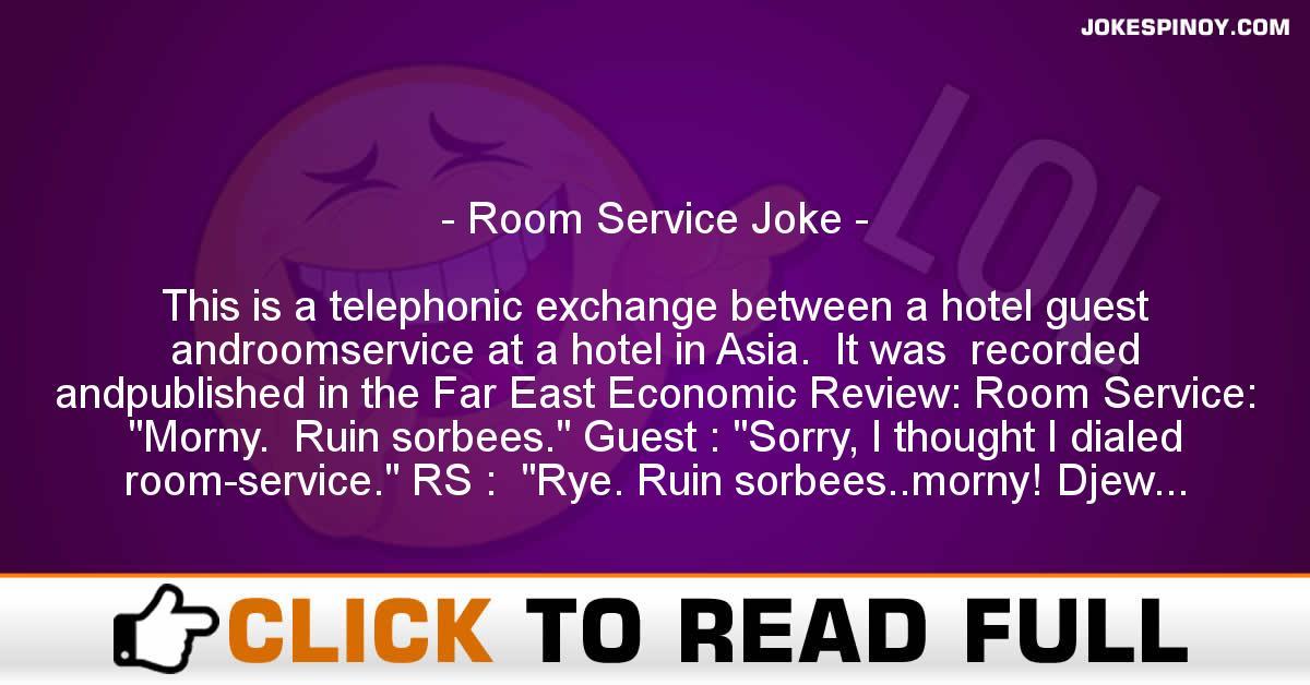 Room Service Joke - JokesPinoy com