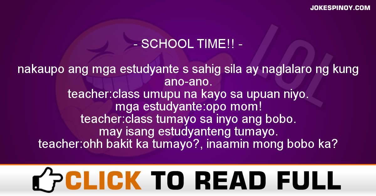 SCHOOL TIME!!