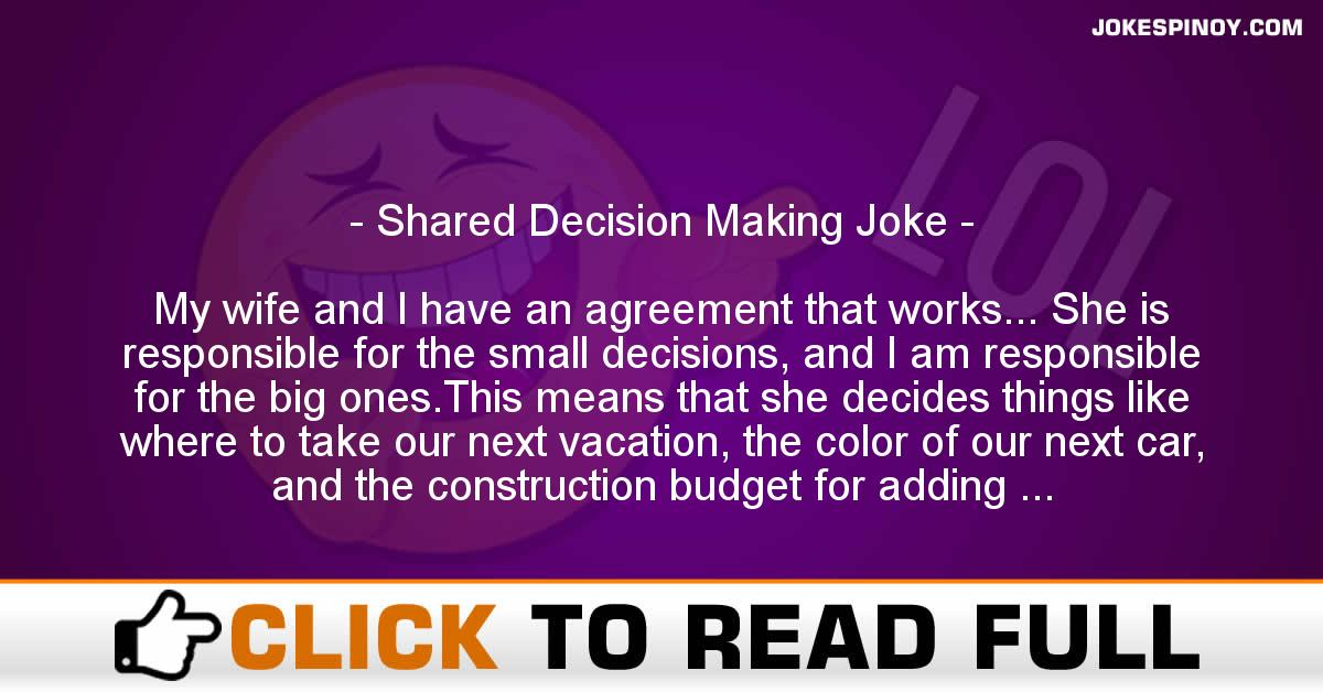 Shared Decision Making Joke