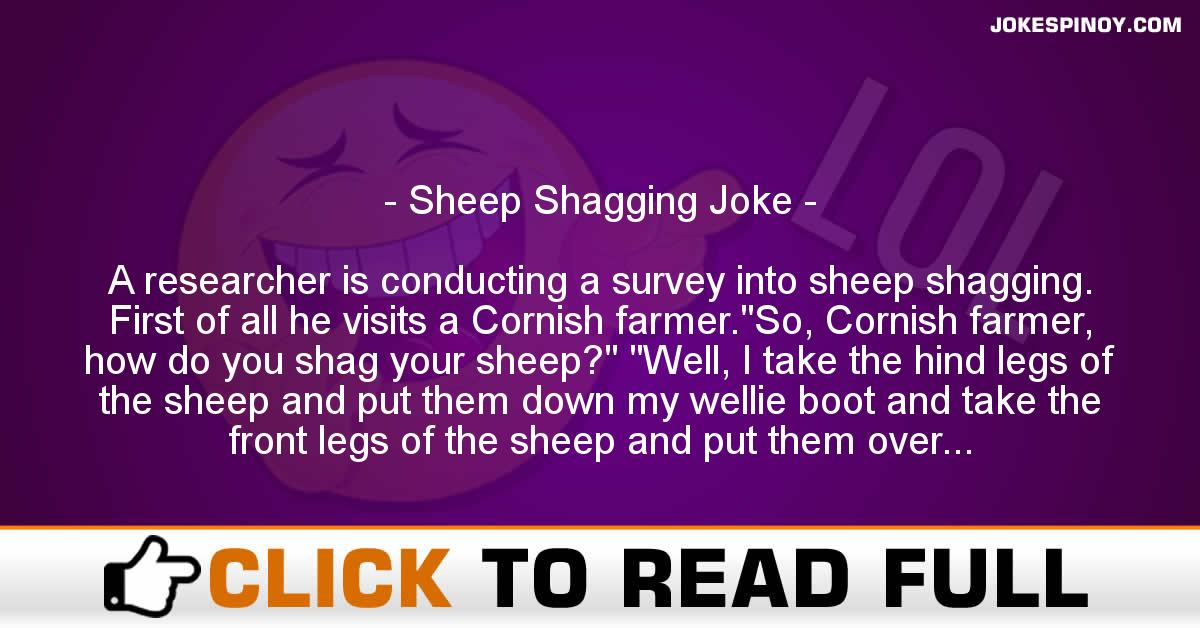 Sheep Shagging Joke