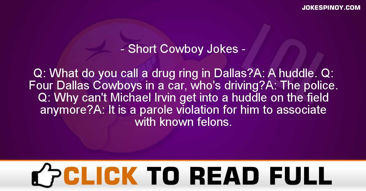 Short Cowboy Jokes