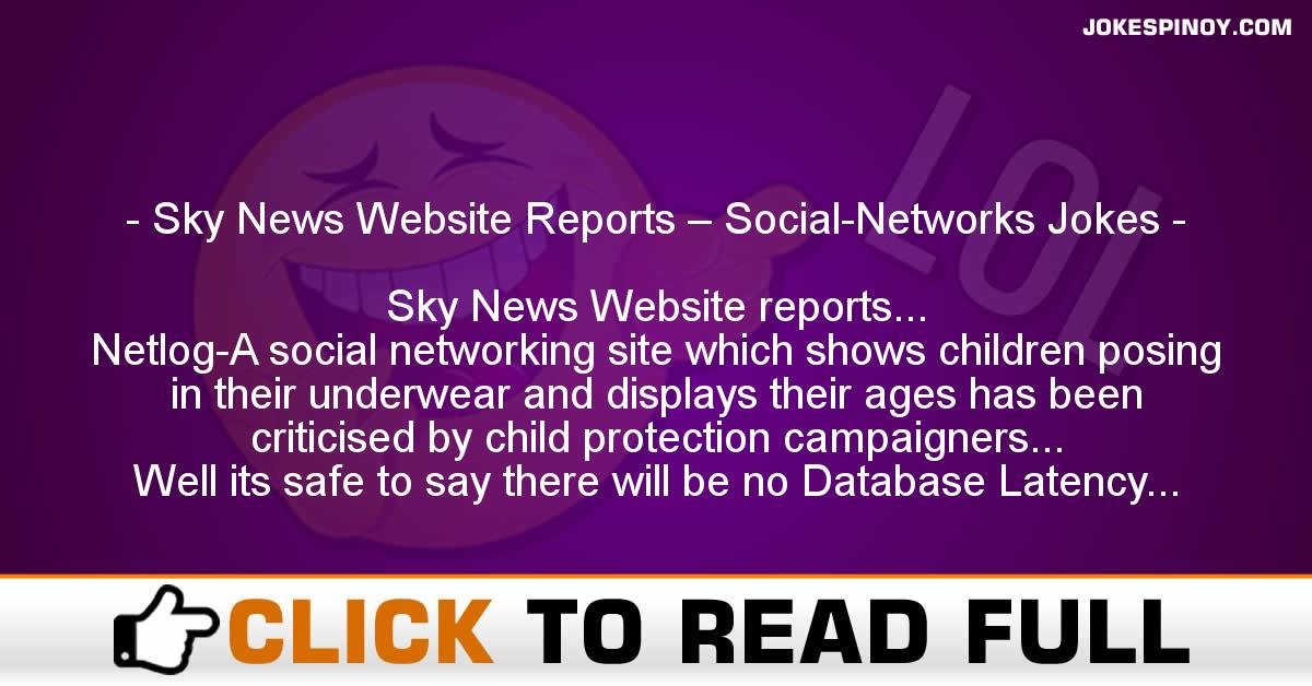 Sky News Website Reports – Social-Networks Jokes