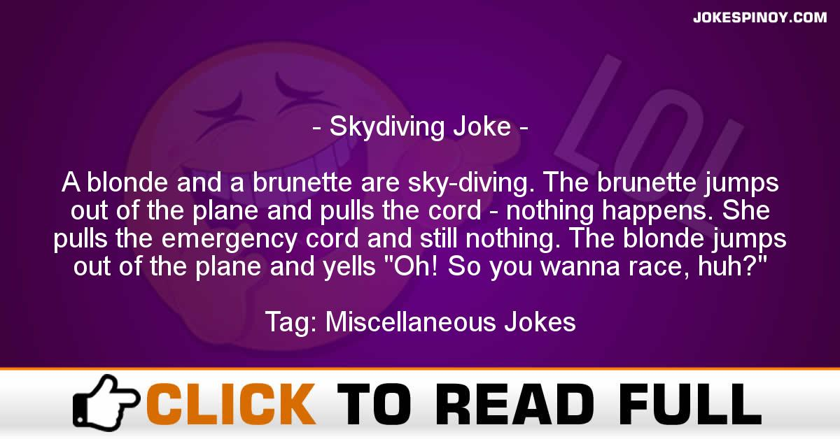 Skydiving Joke