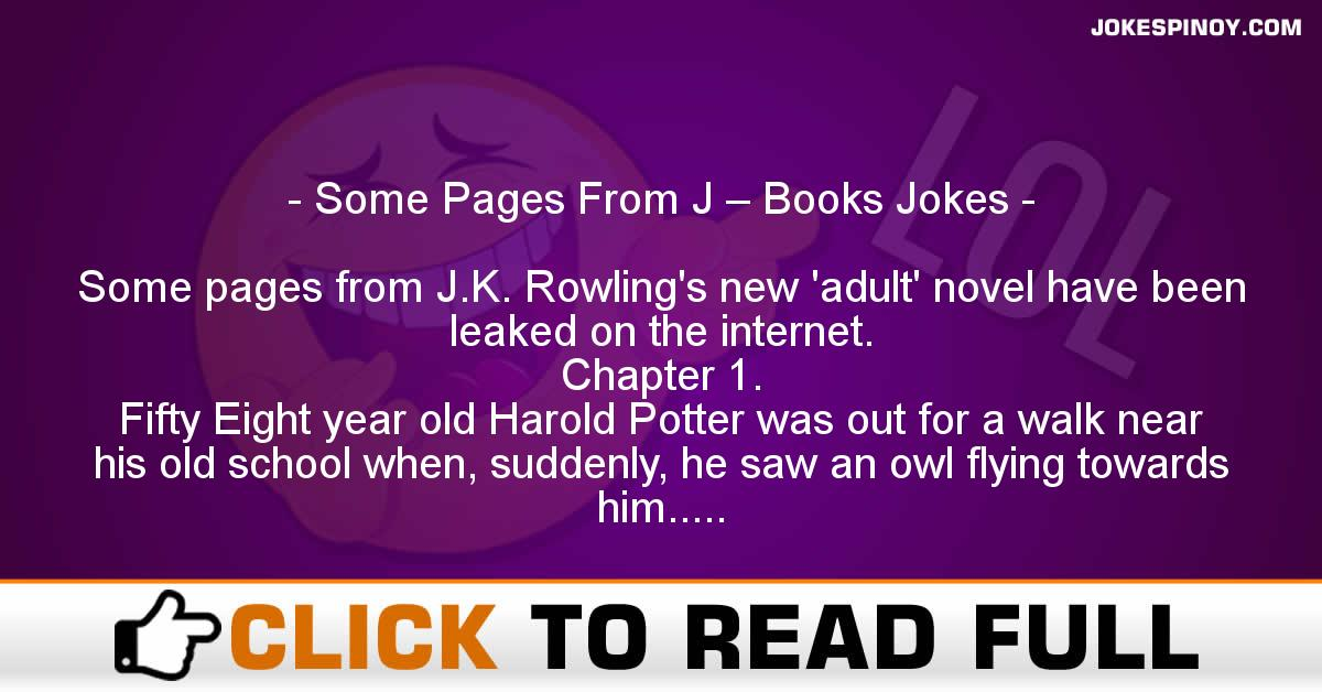 Some Pages From J – Books Jokes