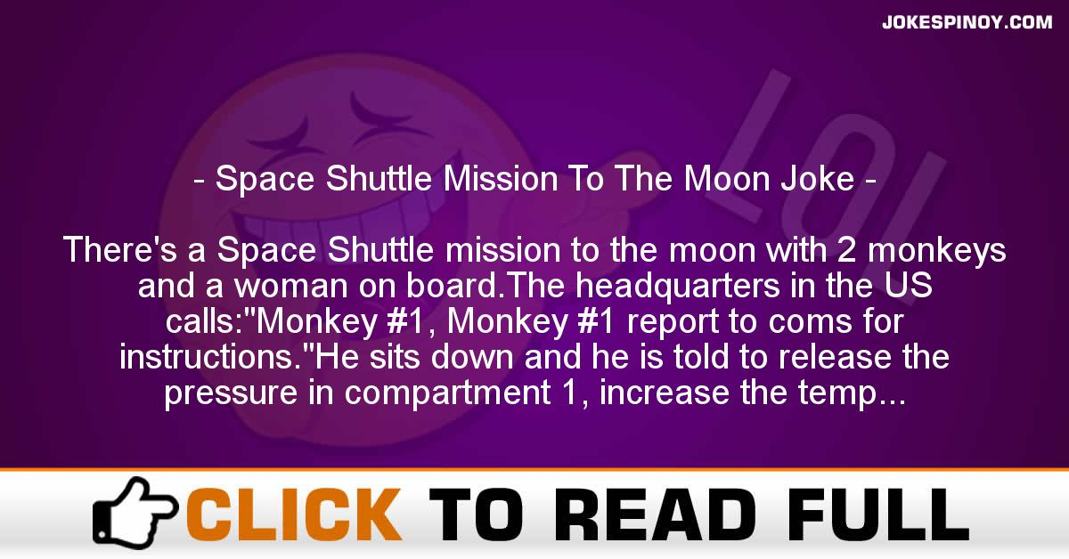 Space Shuttle Mission To The Moon Joke