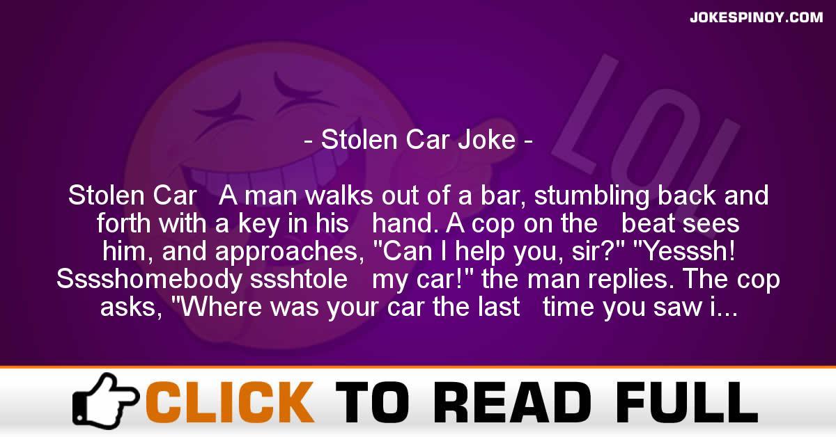 Stolen Car Joke