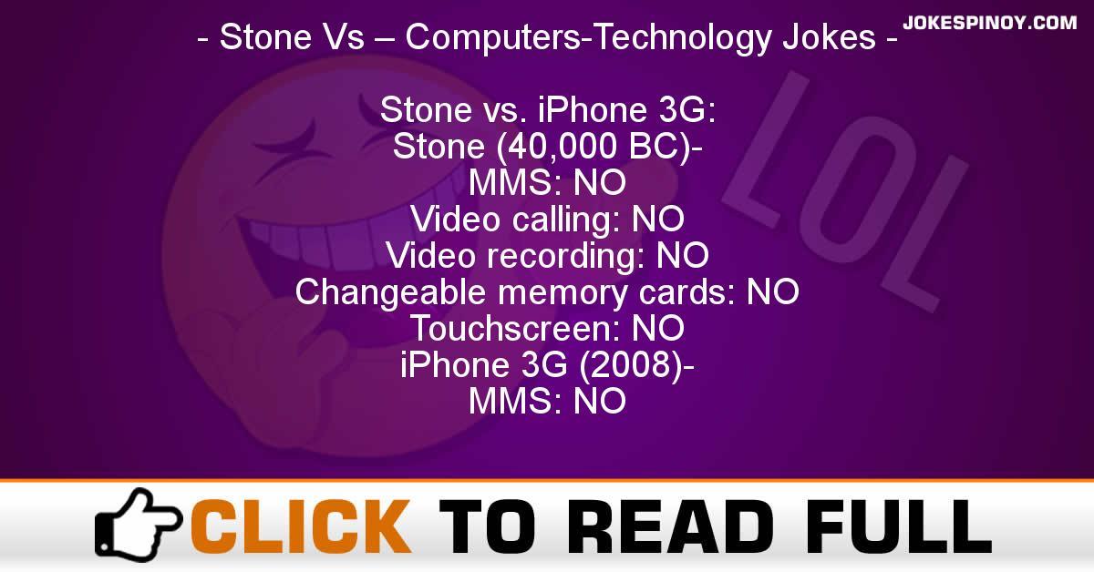 Stone Vs – Computers-Technology Jokes