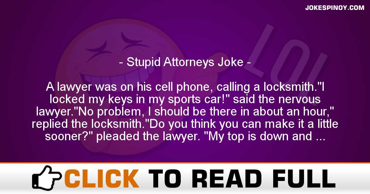 Stupid Attorneys Joke