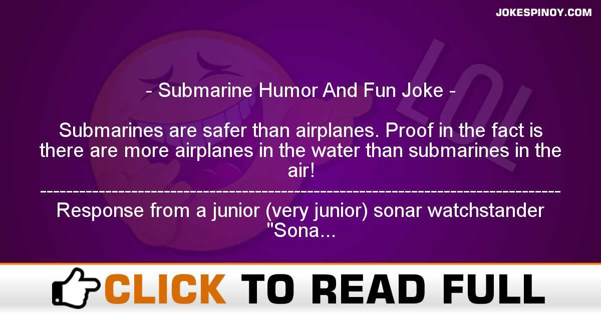 Submarine Humor And Fun Joke