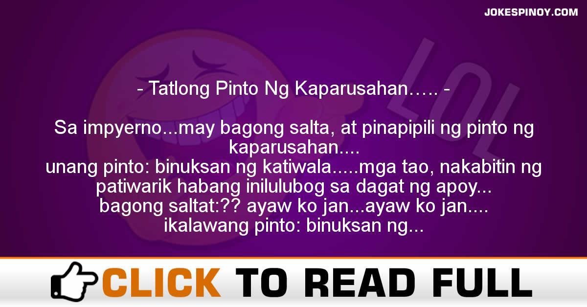 Tatlong Pinto Ng Kaparusahan…..