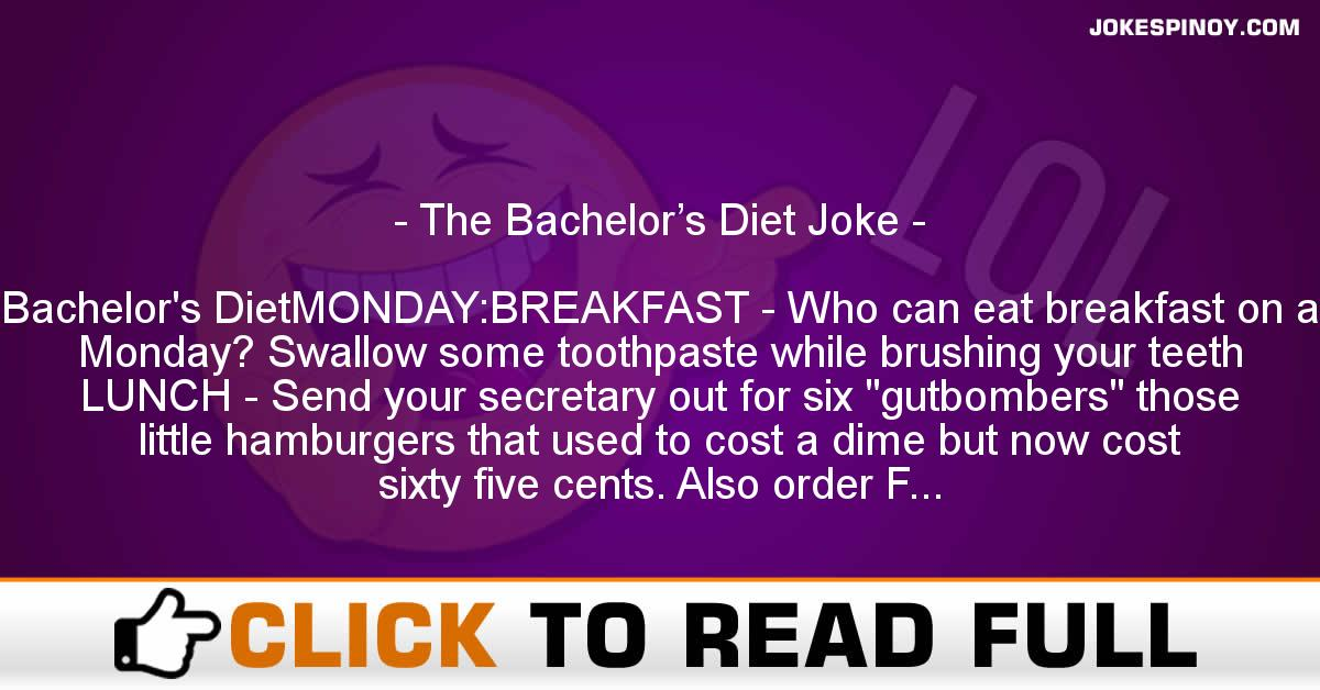 The Bachelor's Diet Joke