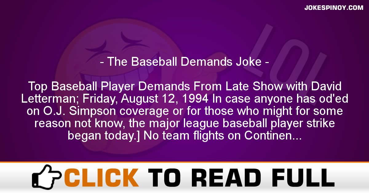 The Baseball Demands Joke