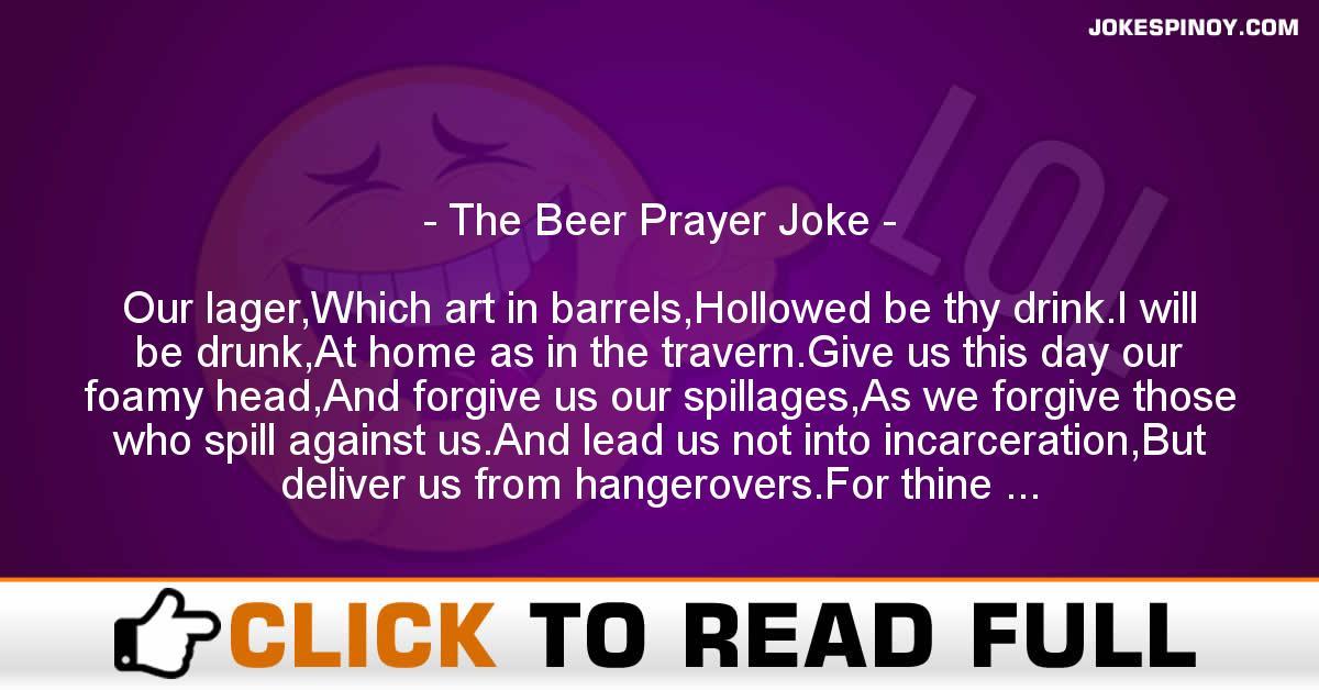 The Beer Prayer Joke