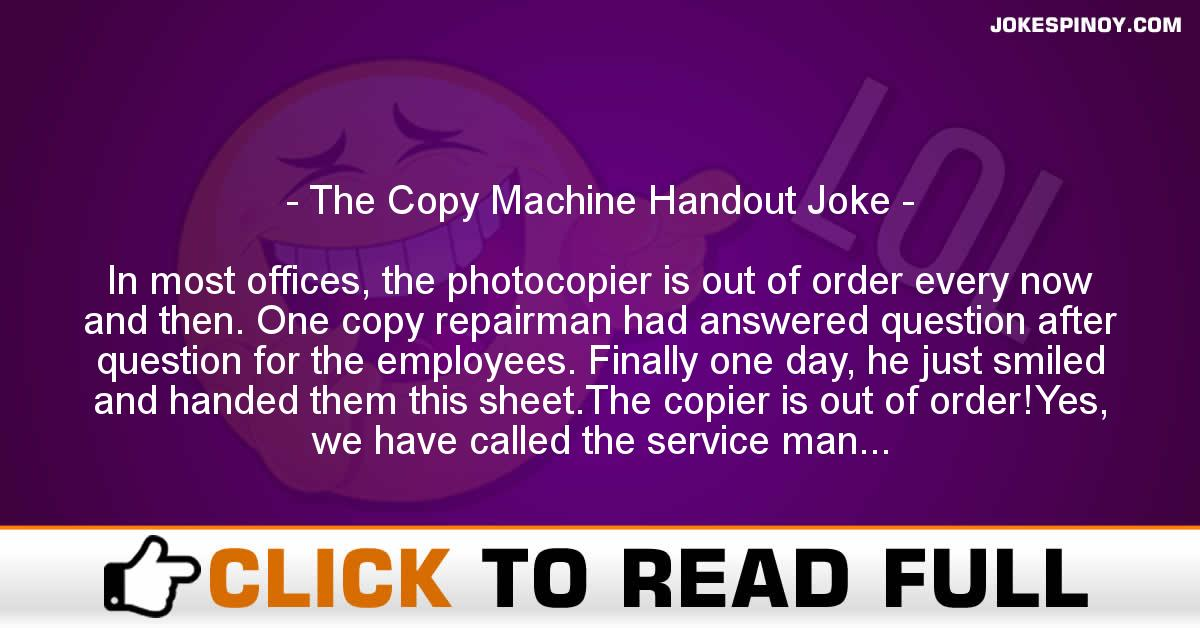 The Copy Machine Handout Joke