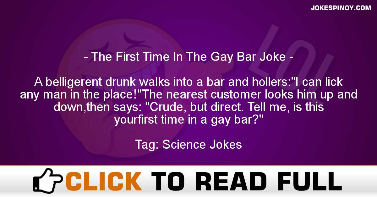 The First Time In The Gay Bar Joke