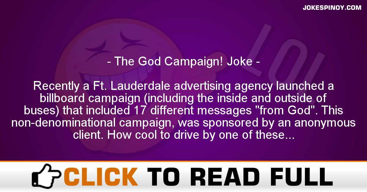 The God Campaign! Joke