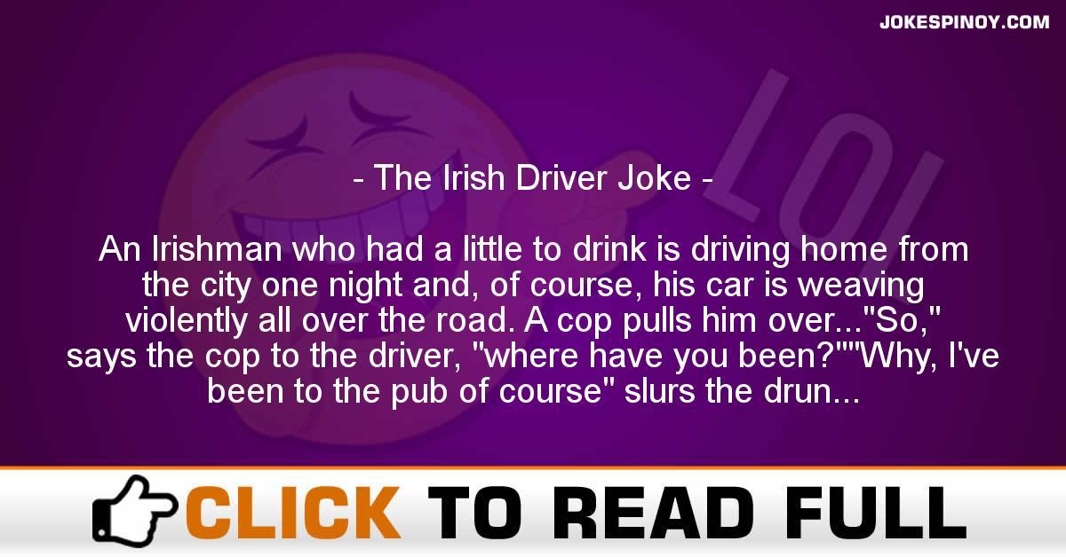 The Irish Driver Joke