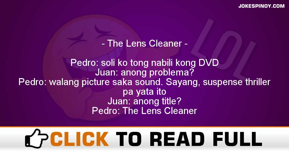 The Lens Cleaner