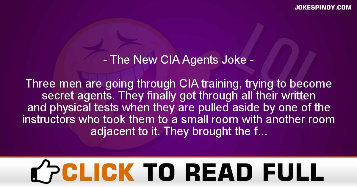 The New CIA Agents Joke