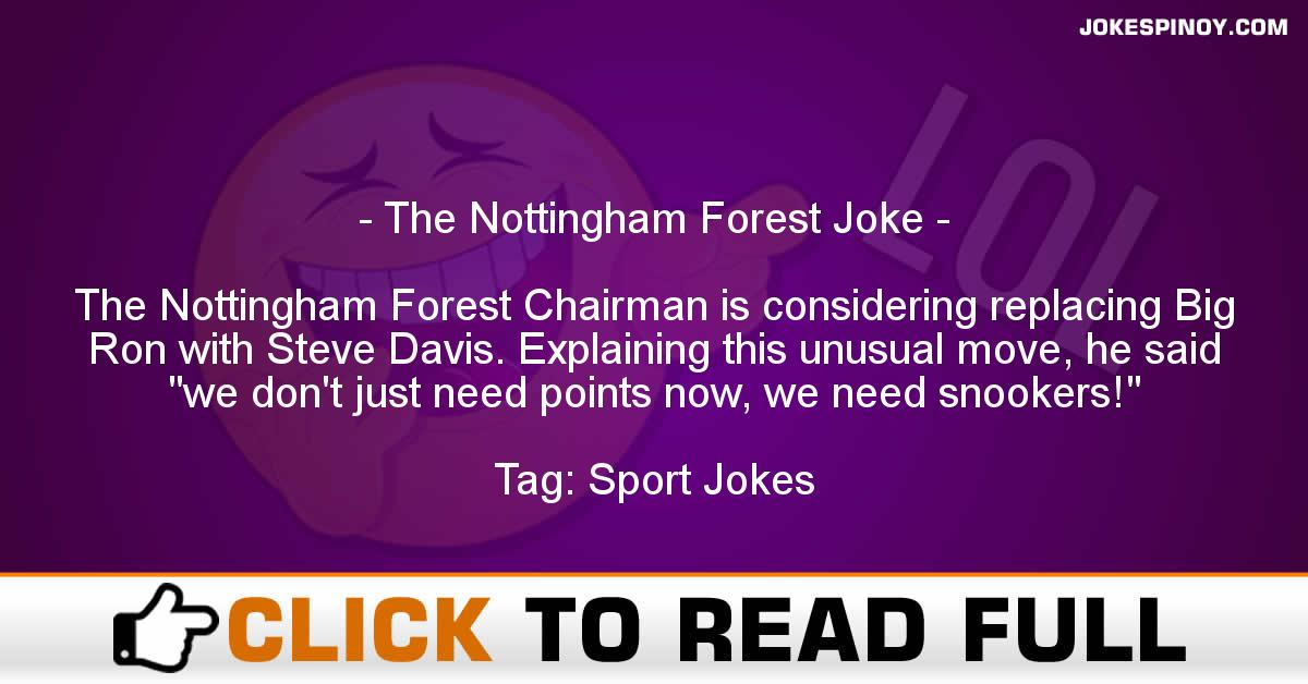 The Nottingham Forest Joke