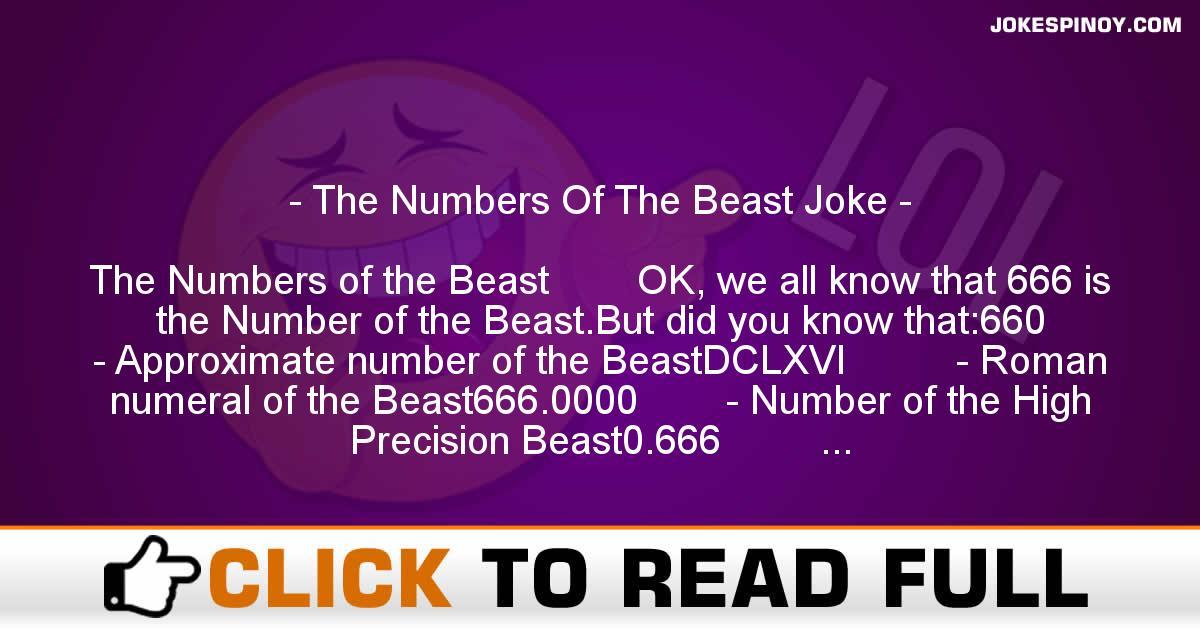 The Numbers Of The Beast Joke