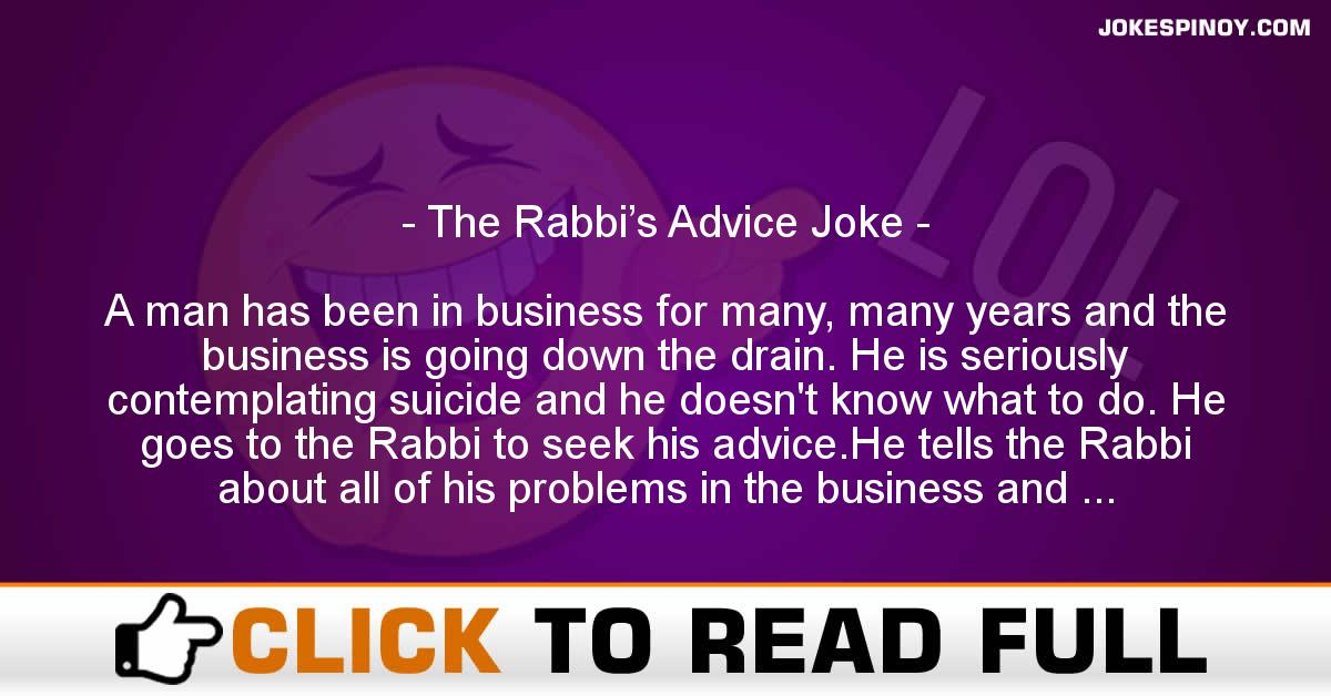 The Rabbi's Advice Joke